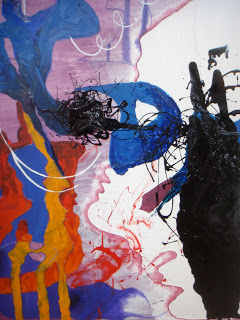 abstract painting using oil paint, oil bar and charcoal where to buy abstract painting how to understand abstract art why is abstract art interesting Aisling Drennan
