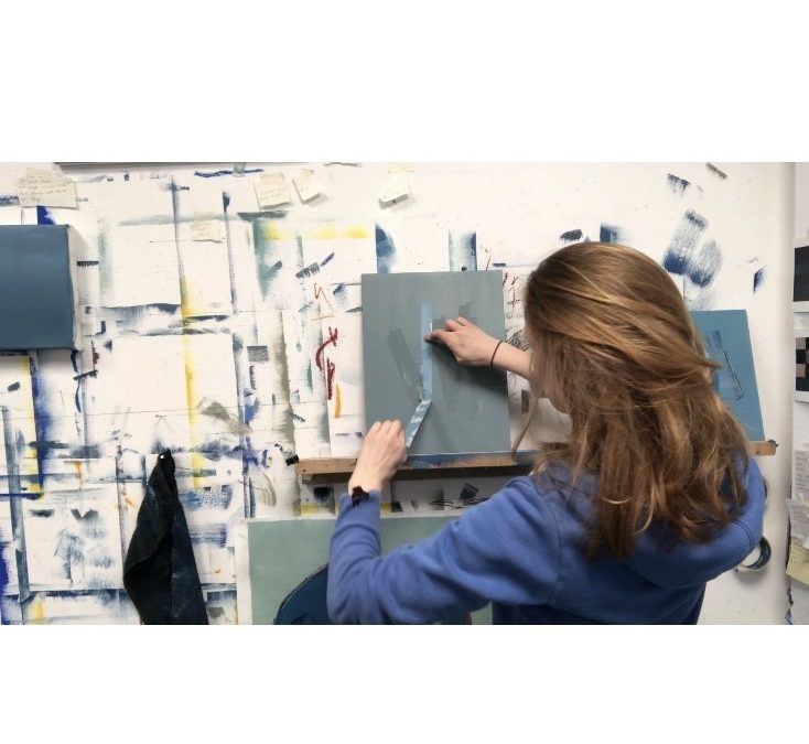 March 2021: Painting with Masking Tape