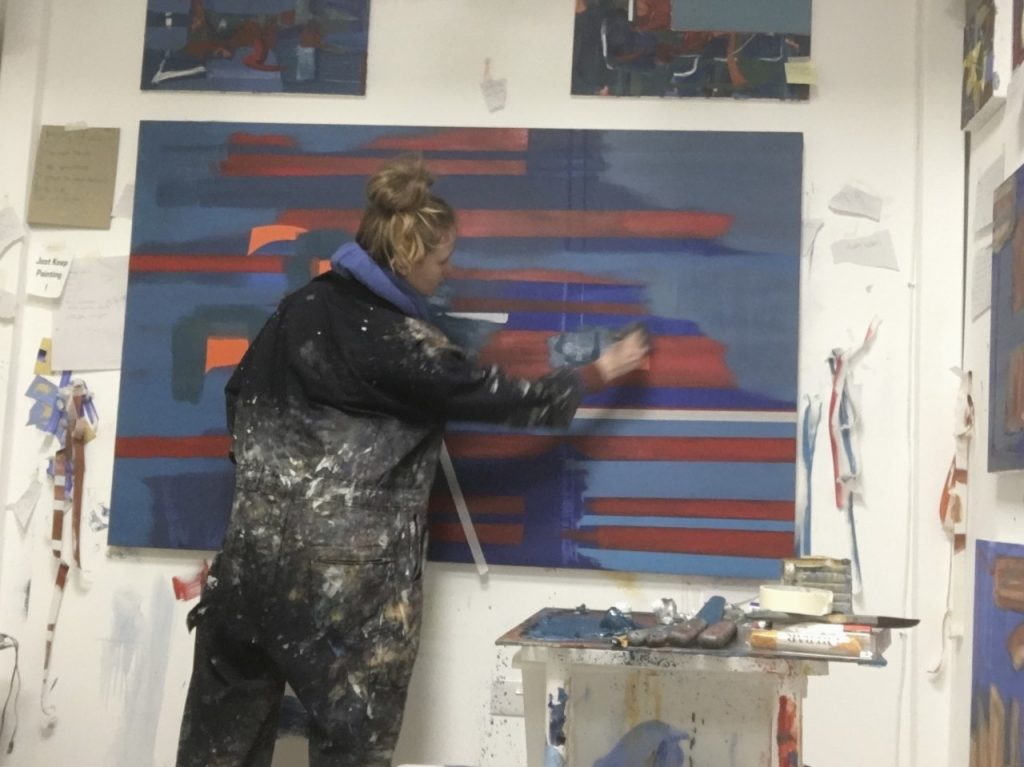 aisling drennan in her art studio talking about knowing when to stop painting