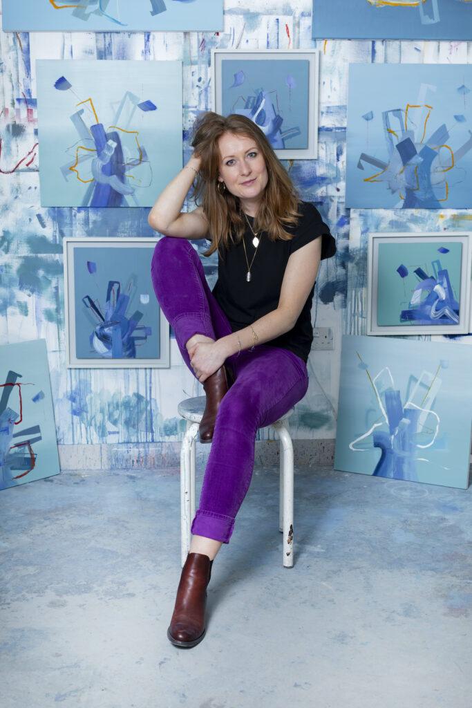 irish artist aisling drennan in her London UK art studio