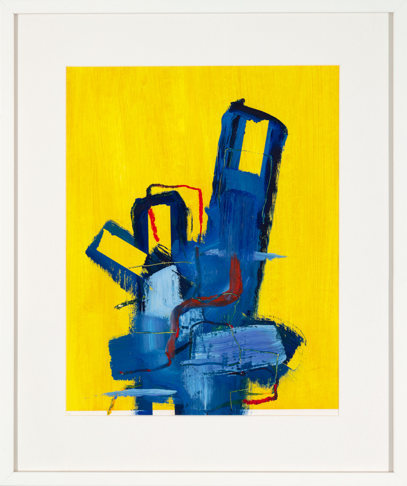 yellow abstract art print by artist Aisling Drennan, contemporary abstract art prints for sale