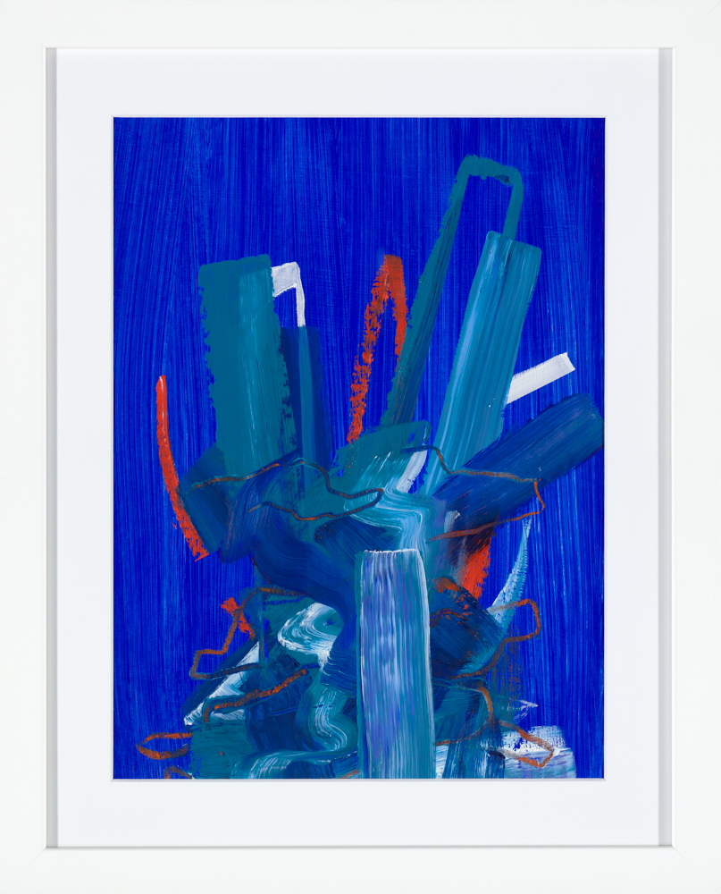 blue abstract painting by Aisling Drennan, qualities of a good artist.