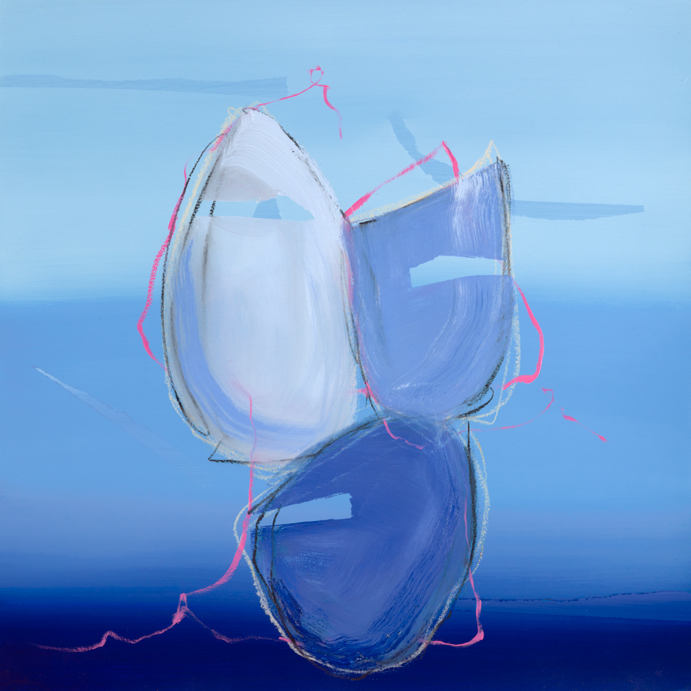 blue abstract painting by Aisling Drennan, small abstract paintings for sale