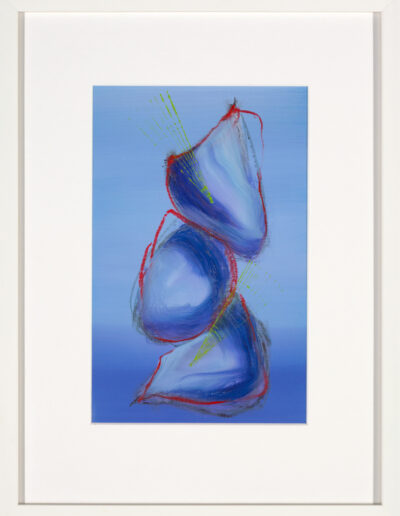 blue abstract painting, contemporary abstract art for sale